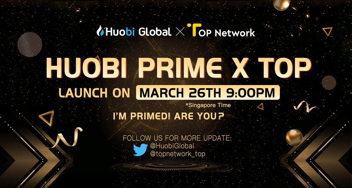 仮想通貨取引所Huobi、新規トークン取引プラットフォーム「Huobi Prime」が開始!|最初の上場は「Top Network(TOP)」3月26日!