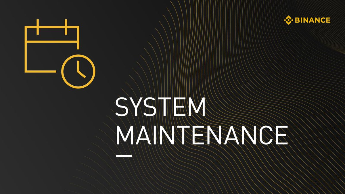 取引所「Binance」、システムアップグレードの為、入出金と取引一時停止:15日正午に実施予定