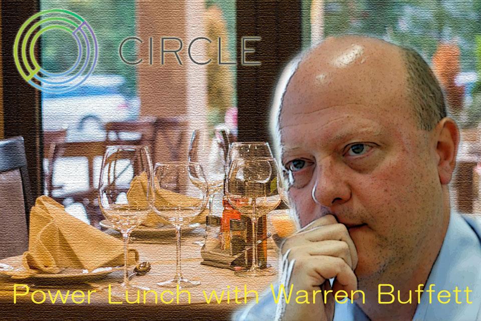 2人目!ウォーレン・バフェットとの昼食会、Circle社CEOが参加!