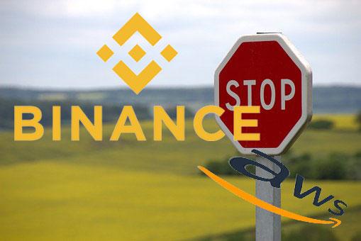 仮想通貨取引所Binance、AWSのシステム障害により、入出金一時停止!