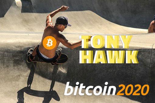 """""""スケボー界の神""""トニーホーク氏、2020年「Bitcoin2020」に登壇決定!ビットコイン保有歴6年!"""