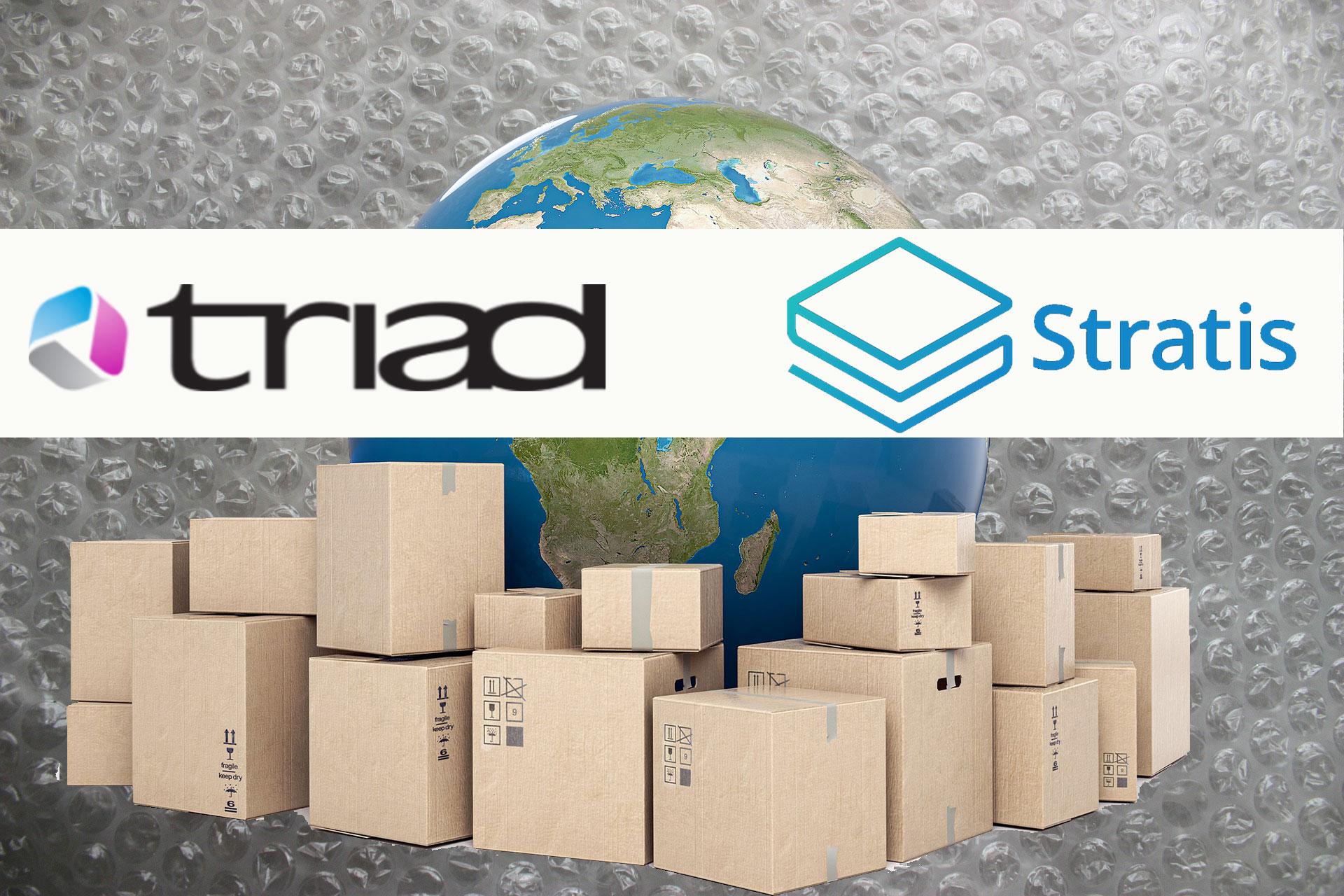 英国IT企業TriadがブロックチェーンプラットフォームStratisと提携、荷物追跡アプリを開発