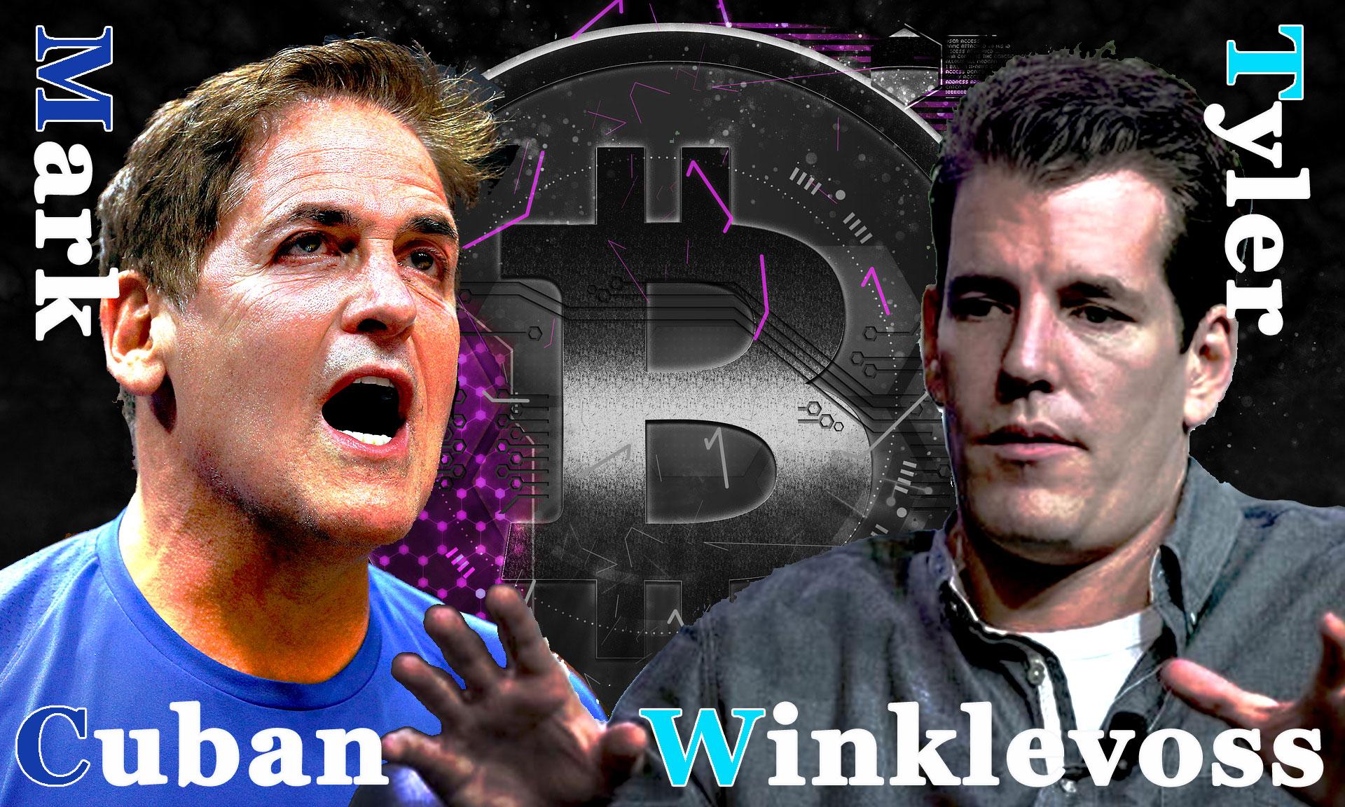 億万長者のマーク・キューバンとタイラー・ウィンクルボス「ビットコインの複雑さ」で議論!
