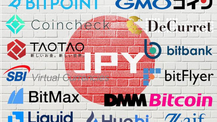 国内仮想通貨(暗号資産)取引所 日本円入出金手数料一覧:2020年6月