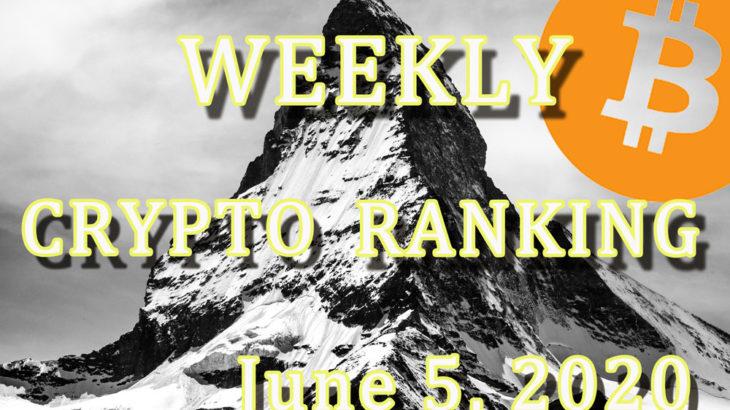 【週刊】仮想通貨銘柄「時価総額ランキングトップ10」・「24H変動率トップ5」