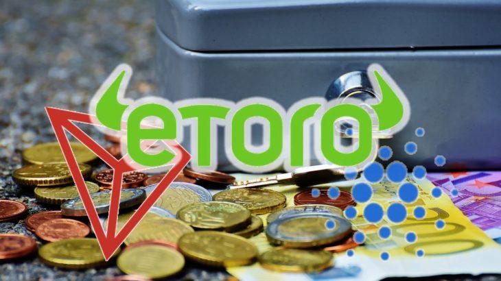 eToroがカルダノ(ADA)とトロン(TRX)のステーキングサービスを開始